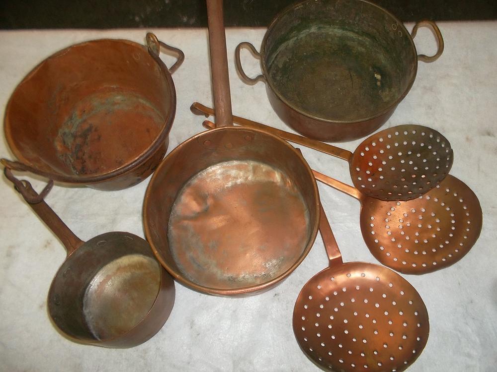 Restauro oggetti in rame da cucina – Eurotrame