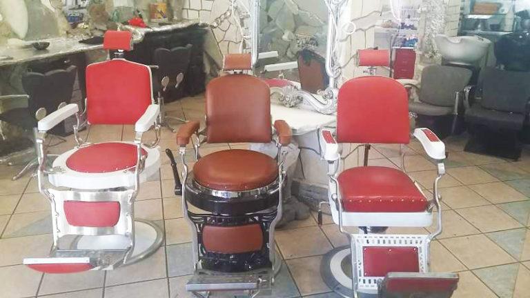Sedie Barbiere Antiche.Poltrona Da Barbiere Scuderi Eurotrame